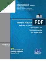 GESTIÓN PÚBLICA MUNICIPAL - ANÁLISIS DE LA CONFLICTIVIDAD Y ESTRATEGIA DE TRANSFORMACIÓN DEL CONFLICTO