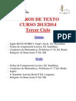 Libros de Texto Tercer Ciclo 13-14