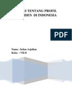 Profil Presiden Indonesia (Irdan Arjulian)