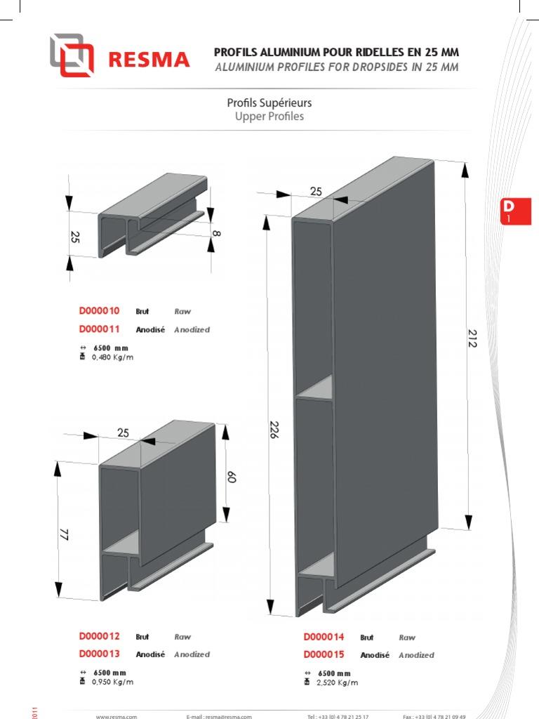 Profil/é en T en aluminium profilprofil/é en T en aluminium jusqu/à 2 m