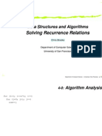 Solving recurrences