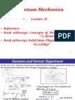 Quantum Mechanics Davisson and Germer Experiment