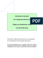 What is Thyroid Patient information for surgery