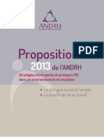 Propositions ANDRH 2013