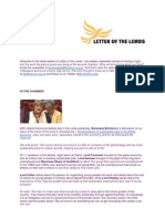 Letter of the Lords - June 28, 2013