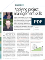 Applying project management skills
