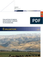 EVALUATION OF DANISH DEVELOPMENT SUPPORT TO AFGHANISTAN