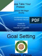 Week One Goal Setting
