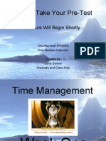 Week One Time Management