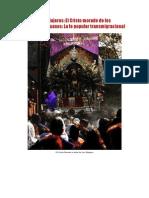 El Santo de Los Viajeros Peruanos El Cristo Morado