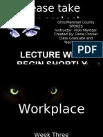 Week Three Workplace Ethics