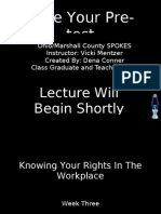 Week Three Your Rights in the Work Place