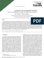 HEong y Escalada.1999. Quantifying Rice Farmers Pest Management Decisions