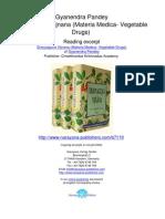 Dravyaguna Vijnana Materia Medica Vegetable Drugs Gyanendra Pandey.07110 1Contents