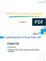 Lecture-12 Crystal Report