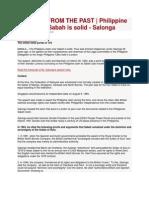 Philippine Claim Over Sabah is Solid - Salonga