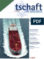 Wirtschaft in Bremen 07/2013 - Schiff ahoi!