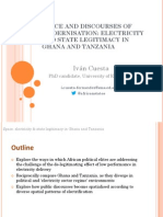 Electricity State Legitimacy in Ghana & Tanzania