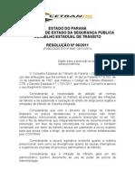 Resolucao 06 2011 - Cetran-pr