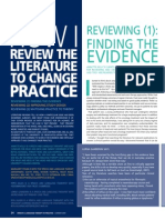 How I review the literature to change practice