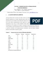 LA SITUACIÓN ACTUAL Y PERSPECTIVAS DE LA PRODUCCIÓN DE LECHE EN VENEZUELA