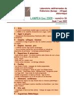 LAMPEA-Doc 2009 – numéro 16 / Jeudi 7 mai 2009