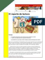Definición y ejemplo de REPORTE DE LECTURA