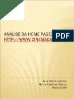 Análise da Home Page