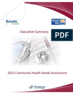 Excela Health/United Way Executive Summary 6-27-13