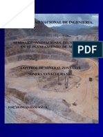 Control de Mineral Zona Este Minera Yanacocha 2002
