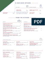 D&T food menu