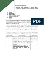 Definición de los Principales Instrumentos de Evaluación