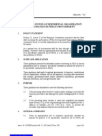 Participation of NGOs in Public Procurement