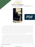 El Habla - Heidegger