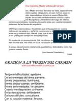 Oracin a Nuestra Santsima Madre y Reina Del Carmen 1216229903446365 9