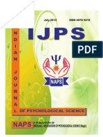 INDIAN JOURNAL OF PSYCHOLOGICAL SCIENCE, ABSTRACT-l July-2012