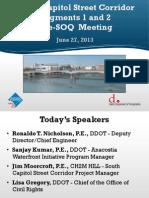 South Capitol Street Corridor Pre-SOQ Meeting Presentation - 6/27/2013