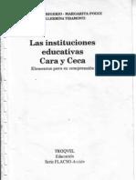 Graciela Frigerio - Las Instiuciones Educativas. Cara y Ceca