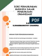 Teori Perhubungan Manusia Dalam Pengurusan Organisasi (1)