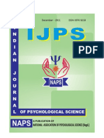 INDIAN JOURNAL OF PSYCHOLOGICAL SCIENCE, Dec-2011