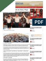 27-06-2013 Será arrollador triunfo de Aída y Pepe