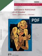 Ecuador Insuficiencia Nutricional Ecuador