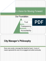 (2013) City Manager's Strategy for Moving Forward