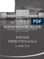 Programmheft WienerOperetten-Gala Hubertussaaal 13.03.10