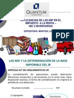 20130426 Marisol Leon H Implicancias Niif IR Inventarios