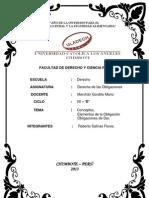 Trabajo de Exposición Obligaciones, Elementos y Obligaciones de Dar