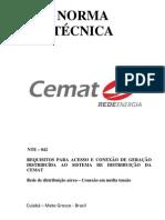 NTE-042 CONEXÃO-DE-GERAÇÃO-DISTRIBUÍDA-EM-MÉDIA-TENSÃO-2a-ediçãox-1
