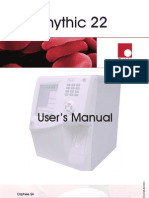 Orphee Mythic 22 Hematology Analyzer - User Manual