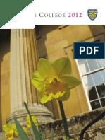 Downing College Cambridge Magazine 2012