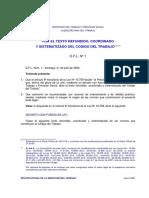 Codio de TRabajo Chile 2003 Antes de Nueva Ley Postnatal